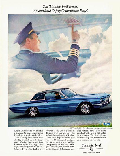 Ford Thunderbird Town Landau 1966 Overhead - Mad Men Art: The 1891-1970 Vintage Advertisement Art Collection