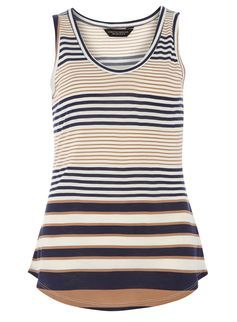 Multi stripe vest top