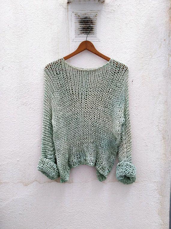 Mira este artículo en mi tienda de Etsy: https://www.etsy.com/es/listing/607163229/hand-knitted-pullover-versatile