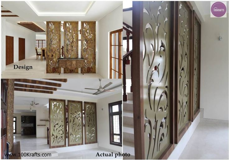 Image result for wooden partition designs between living dining wall design pinterest - Partition in interior designing ...