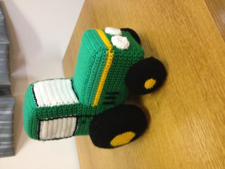 Crochet John Deere tractor I just finished very happy with how it turned out