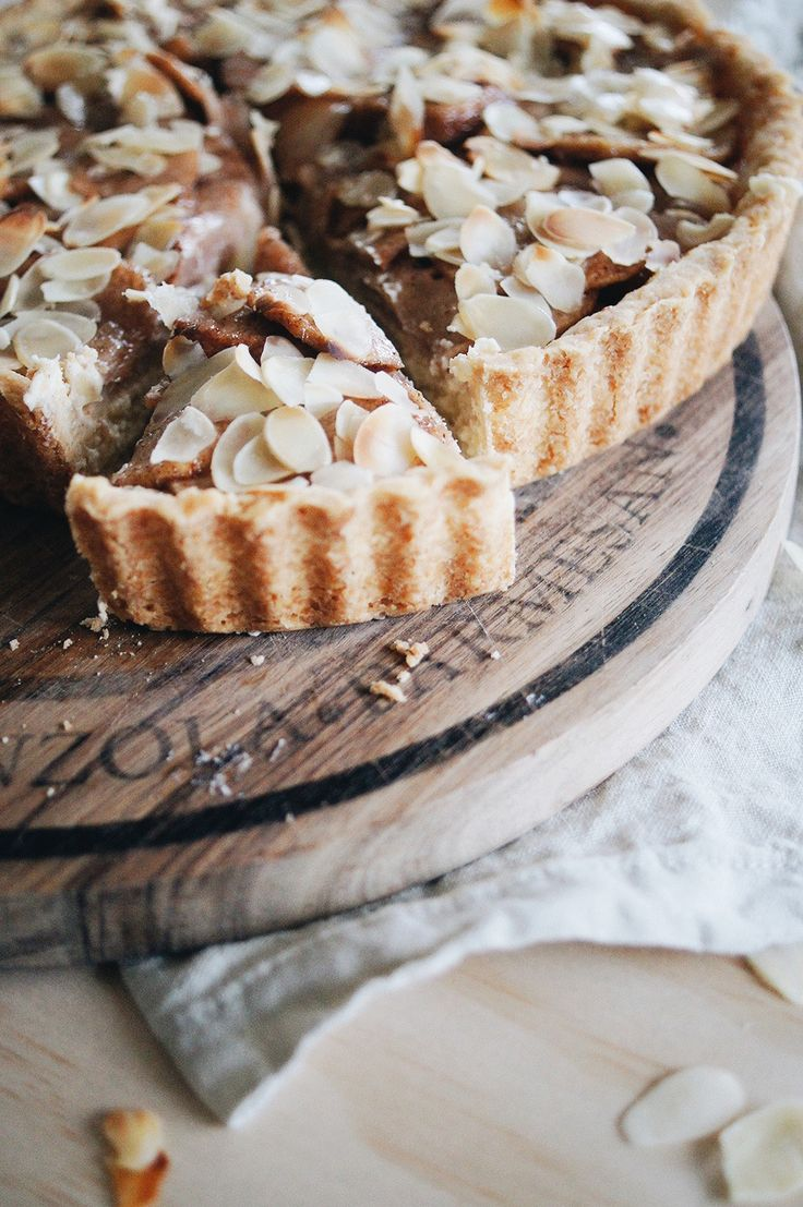pear and almond cream cheese pie.