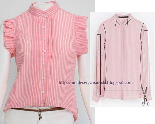 Ideas para el hogar: Transformando una prenda en otra con cortes y costuras muy simples 10 modelos para realizar