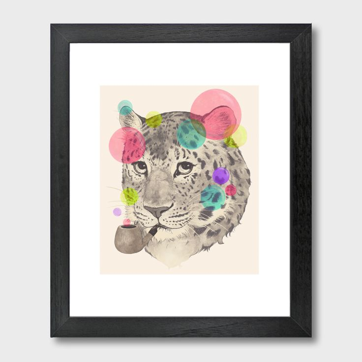 East Urban Home Leopard Change Shisspots Framed Graphic Art Print Frame Color Black Size H X W
