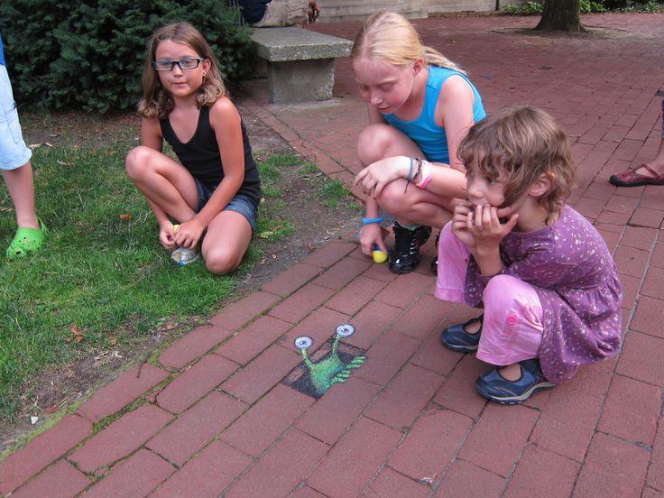 Emergent Sluggo and friends Ann Arbor Summer Festival Installations, 2012-2014 - David Zinn