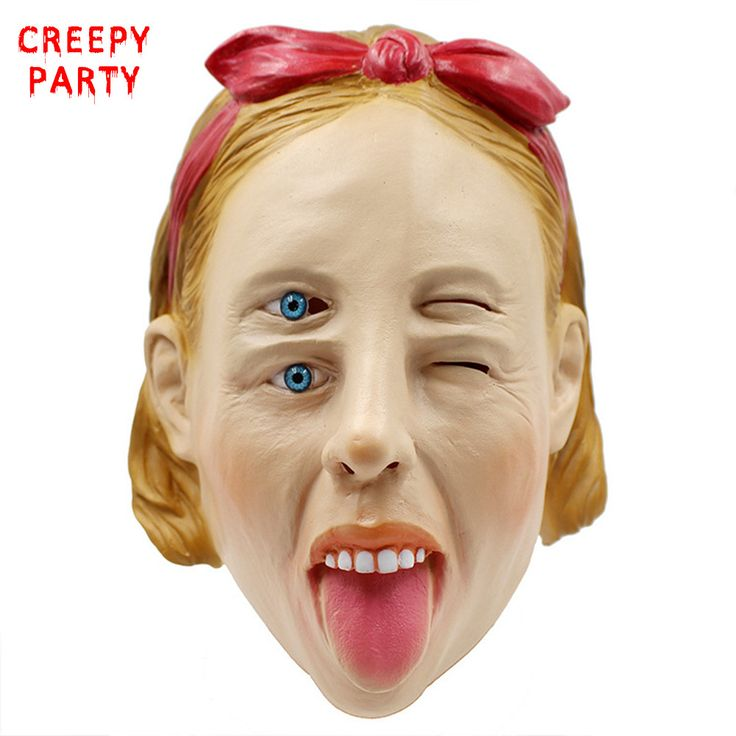 New Scary Overlapping eyes Realistic Mask Masquerade Full Face Latex Mask Fancy Dress Party Cosplay Costume Halloween Mask