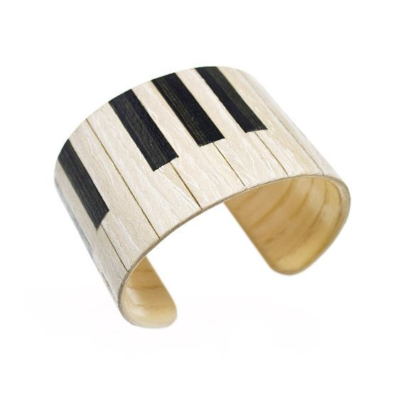 love this! So simple and cute! :) Piano   Wooden bracelet / bentwood / cuff type  exotic by PanKos, $24.90