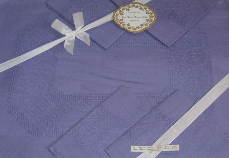 Irish linen napkin and placement set . lilac irish linen . lilac linen napkins . purple linen placemats by vintagous on Etsy
