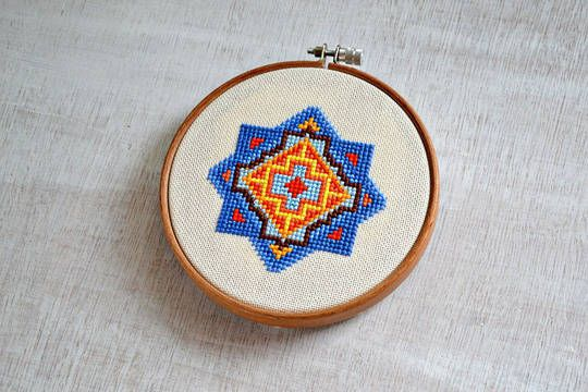 Stickanleitung Mandala