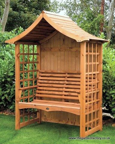 pagoda roof garden arbour