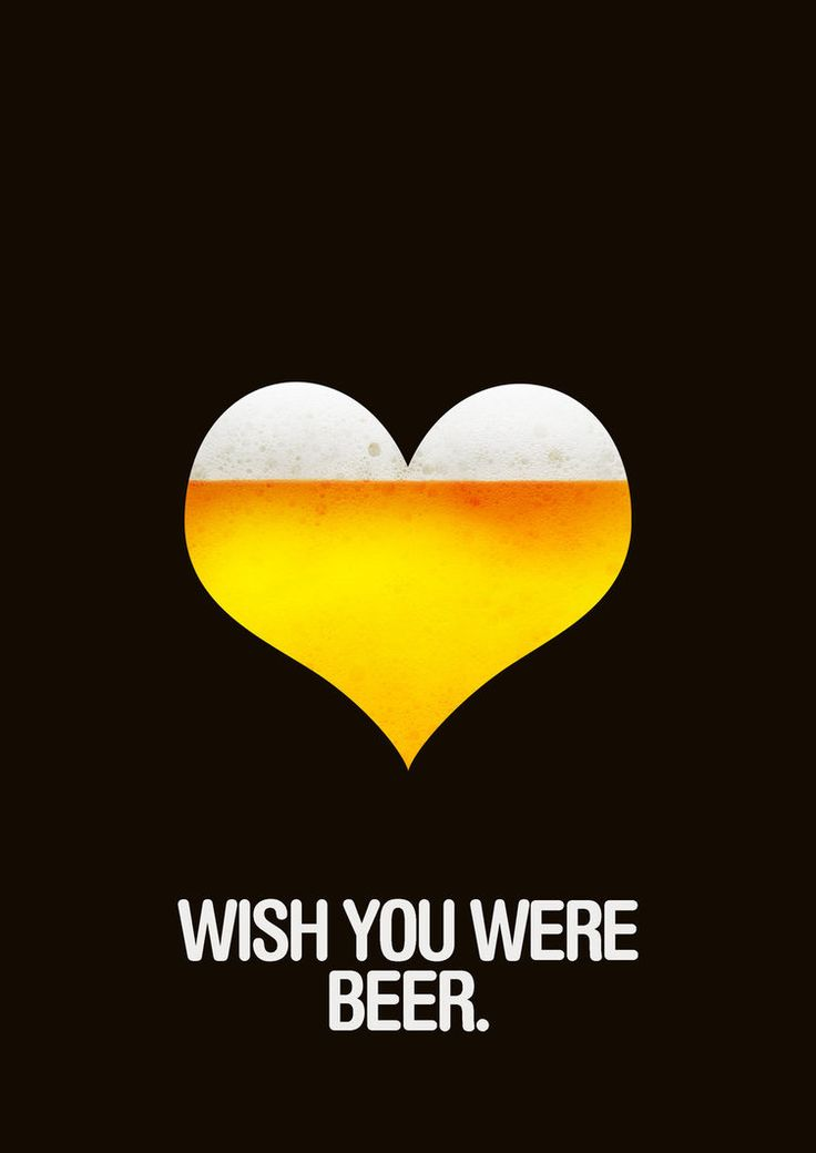 Wish You Were Beer art poster