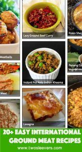 Do you want easy ground beef recipes or recipes for ground chicken, ground pork recipes or ground lamb recipes? Here are some easy international recipes.