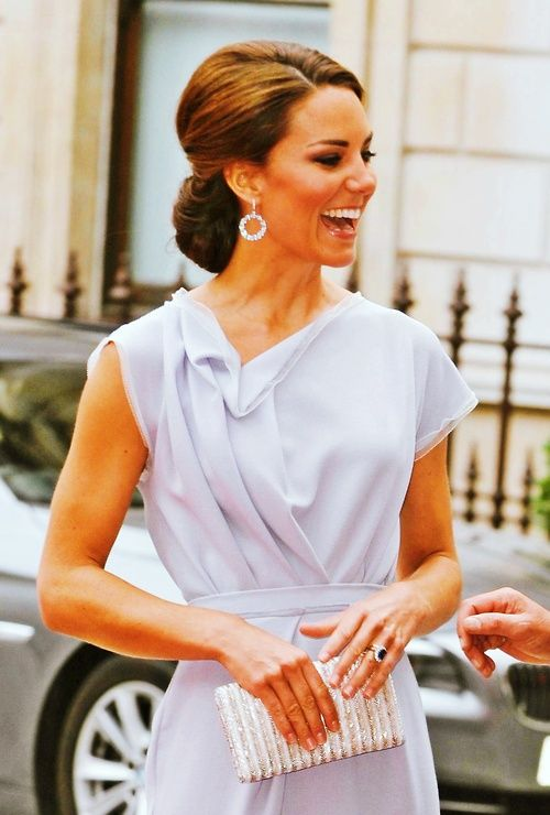 Kate, Duchess of Cambridge at Royal Academy of Arts Reception for GREAT Campaign. July 30, 2012.: Duchess Of Cambridge, The Duchess, Wedding Hair, Katemiddleton, Style Icons, Kate Middleton, Duchess Kate, The Dresses, Princesses Kate