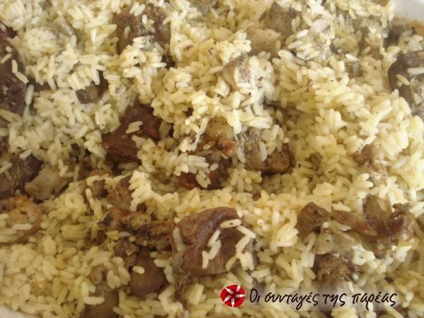 Συκώτι ή συκωταριά στο φούρνο με ρύζι #sintagespareas