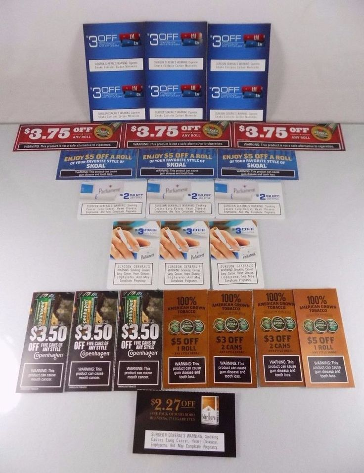 #Marlboro #Copenhagen #Skoal Red Seal Parliament and L&M 25 piece/count pc. ct. #cigarette pack carton #tobacco #snuff paper card manufacturer's manufacturers manufacturer #coupon #voucher lot/set with $85+ #discounts savings, brand new and unused in original paper card form with clearly scannable UPC bar-codes and stamped expiration dates, brand new and unused…