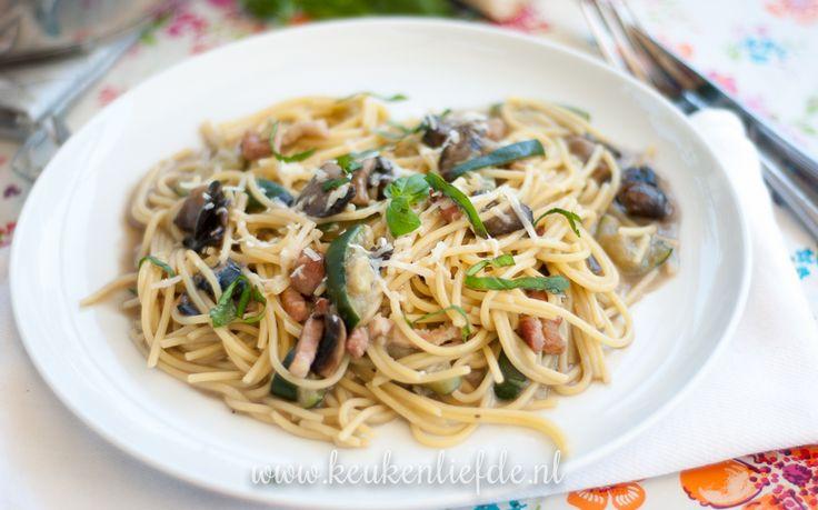 eenpanspasta met spek en champignons-2342