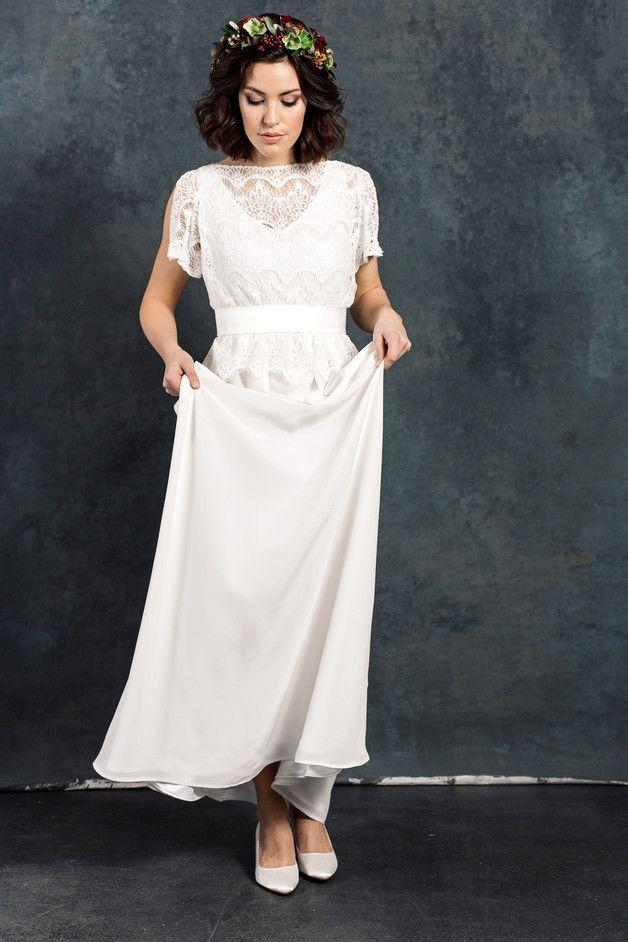 852 best Brautkleider images on Pinterest | Short wedding gowns ...