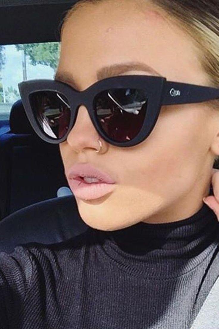Quay Australia - Kitti Black Smoke Designer Sunglasses