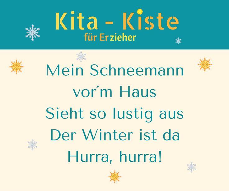 """Strophe des Winterliedes """"Der Winter ist da - hurra"""" - Hörprobe auf www.kitakiste.jimdo.com"""