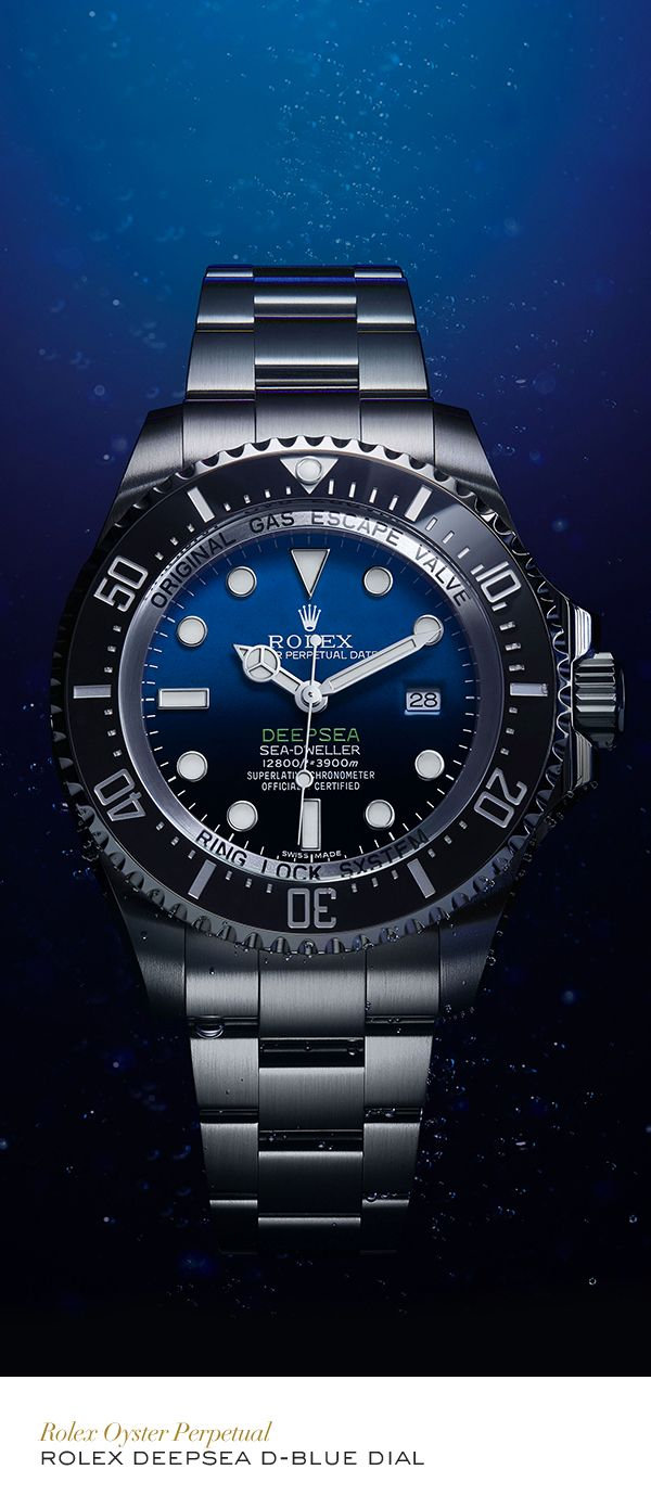 """TIME-KEEPERS - """"Rolex Deepsea 44 mm in 904L steel, with a D-Blue dial and Oyster bracelet. #Exploration #RolexOfficial""""."""