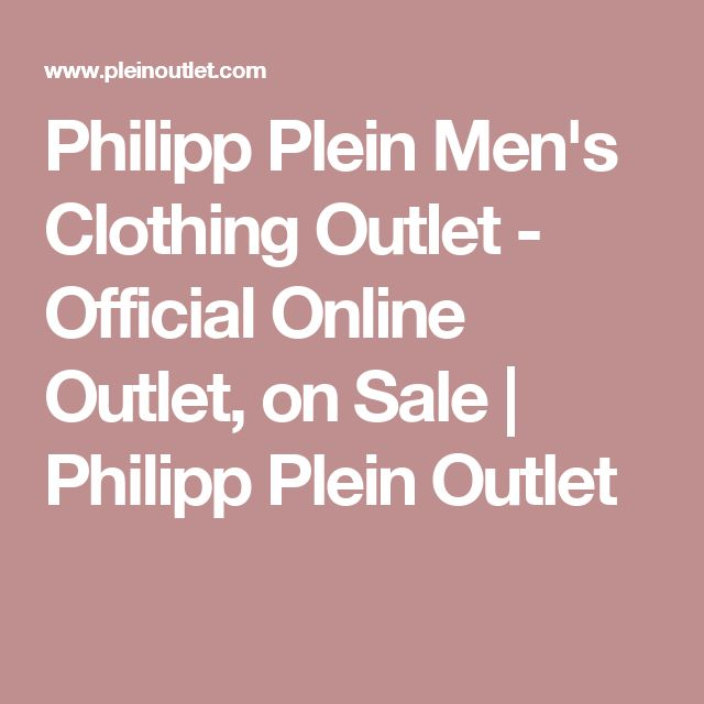 Philipp Plein Men's Clothing Outlet - Official Online Outlet, on Sale | Philipp Plein Outlet