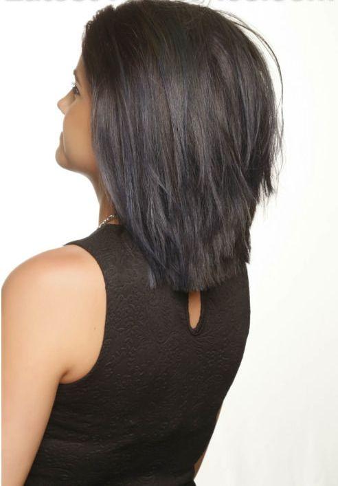 Прическа боб на длинные волосы