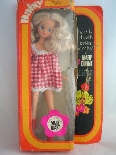 Mary Quant Daisy Doll, I had her for Christmas one year and my Mum made all these amazing clothes for her including a beautiful wedding dress.