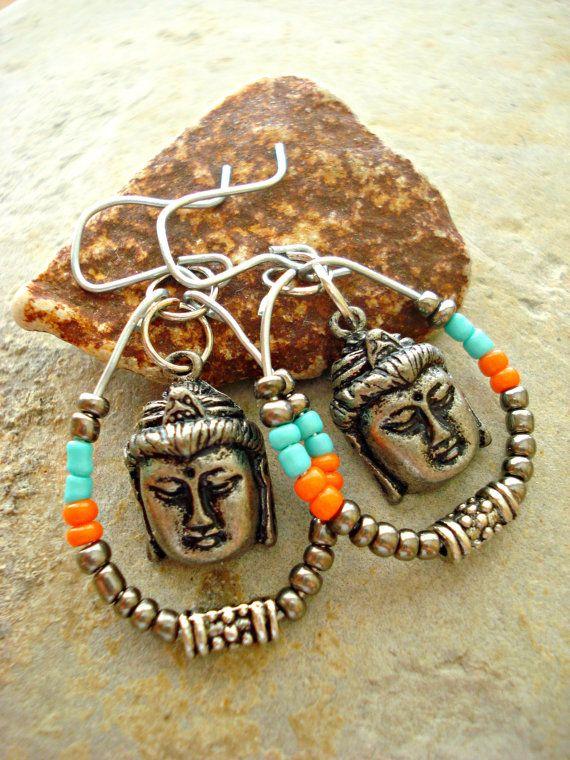 Yoga Earrings  Yoga Jewellery  Buddha Jewellery by HandcraftedYoga, $24.00