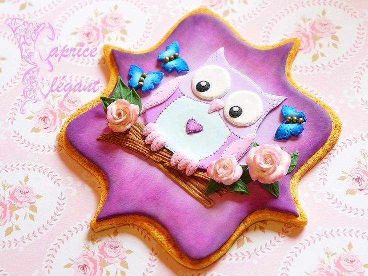 Magnet gourmand créé en pâte polymère Fimo sur le thème du cookie fondant.  Par Tania Villard Hirsig / Caprice élégant