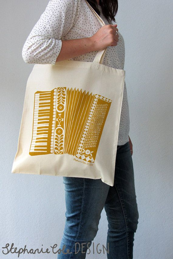 Hey, I found this really awesome Etsy listing at https://www.etsy.com/listing/154244134/accordion-illustrated-tote-bag