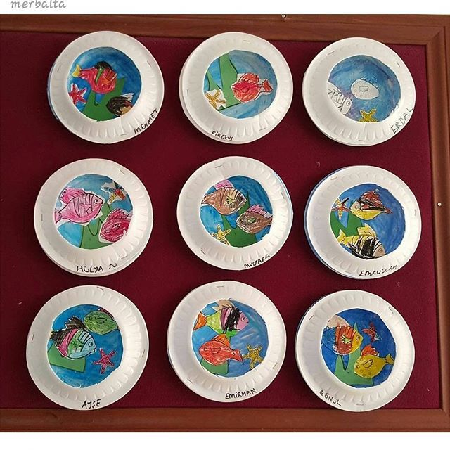 paper plate Aquarium craft (3) | Crafts and Worksheets for Preschool,Toddler and Kindergarten