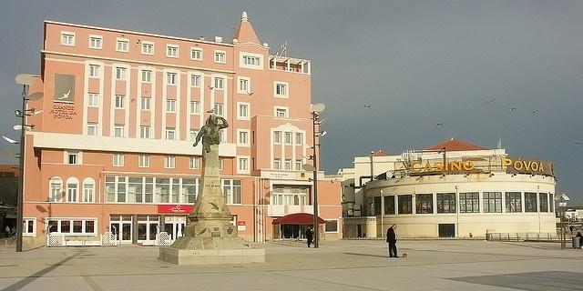 Póvoa de Varzim - Grande Hotel, Casino e Monumento ao Cego do Maio