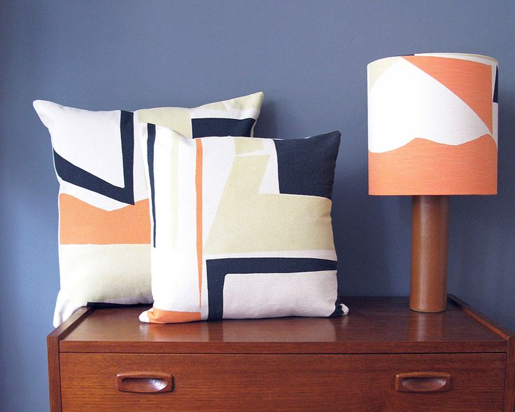 Tamasyn Gambell | Slice Cushions + lampshade | www.tamasyngambell.com