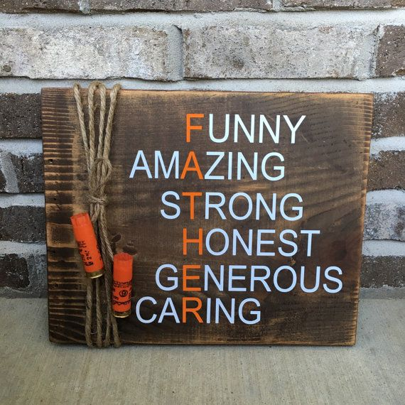 """Rustic Hunting Father's Day Gift / Father of the Bride Gift 11"""" x 14"""" Wooden Sign """" FREE SHIPPING"""