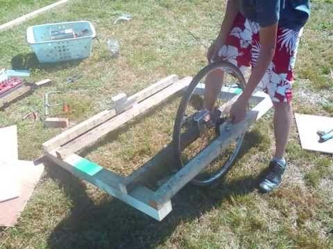 Kayak Trailer - fabrication remorque de velo