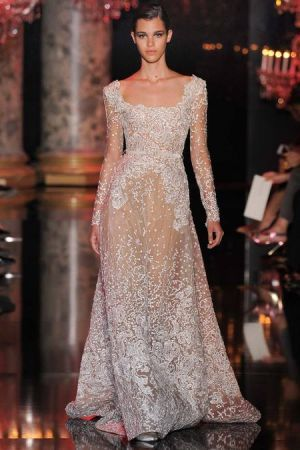 Elie Saab Fall 2014 couture collection...but in long v neck