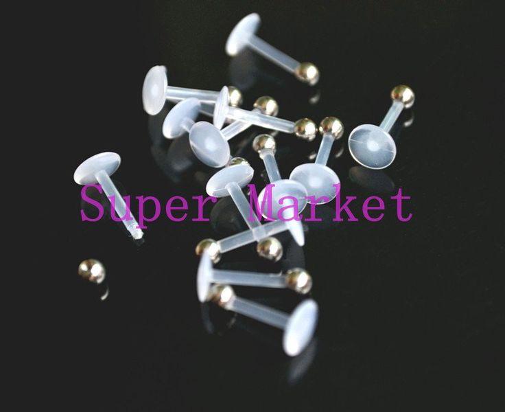Flexi Labret Stud Lip Ring Stud Fashion Body Piercing UV Acrylic High Quality 16G 1.2*8*3mm 200pcs/lot