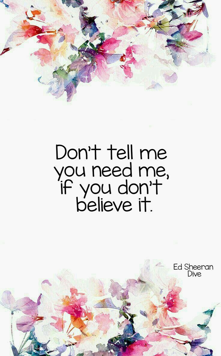 Dive - Ed Sheeran lyrics
