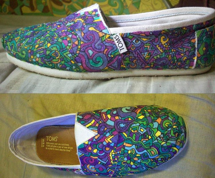 My favorite shoes, decorated TOMS