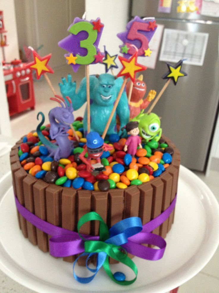 Toddler Birthday Cake Ideas Home Design Easy Cakes For Toddlers Monsters Inc The Kids With Many Chocolate And Candies