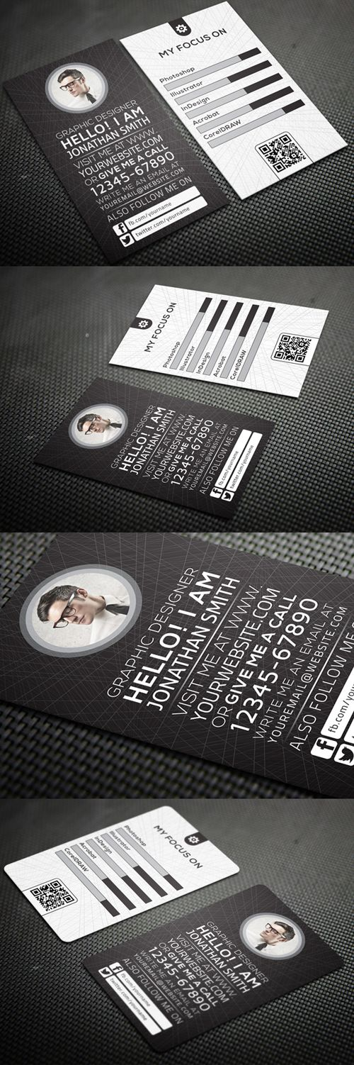 Creative Personal Business Card #businesscards #businesscardsdesign #corporatebusinesscards