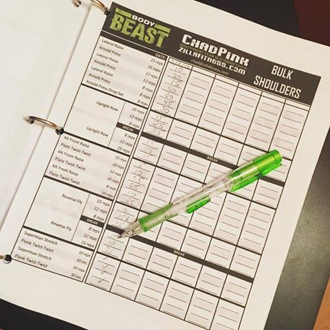 Printables Beach Body Worksheets 1000 images about beachbody worksheets and schedules on pinterest body beast knocked out bulk shoulders using my revamped need