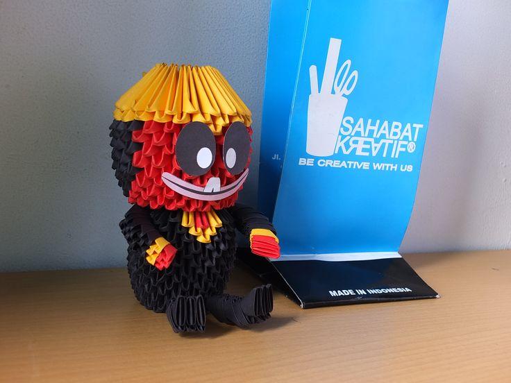 3d Origami Cepot (original puppet Sunda from Indonesia)