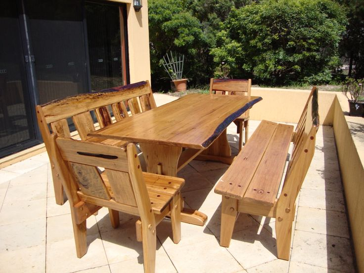 Outdoor setting - 100% Australian made from Australian Hardwood by Christoper Bennell.  02 4632 7699