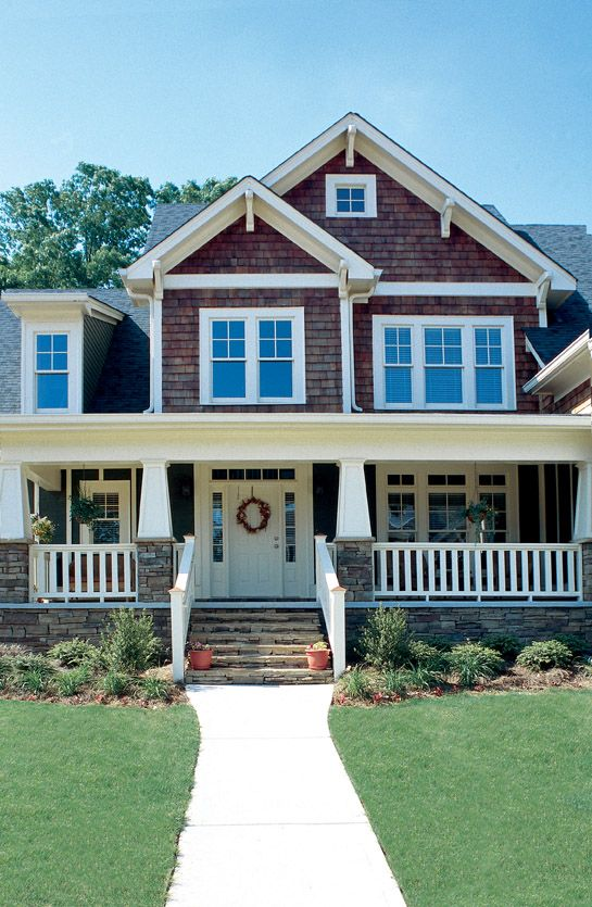 Best Craftsman Porch Ideas On Pinterest Craftsman Bungalow - Craftsman style homes with front porches pictures
