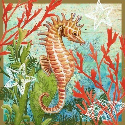 seahorse wall art | Seaside, Things of the Sea, Seashore ...