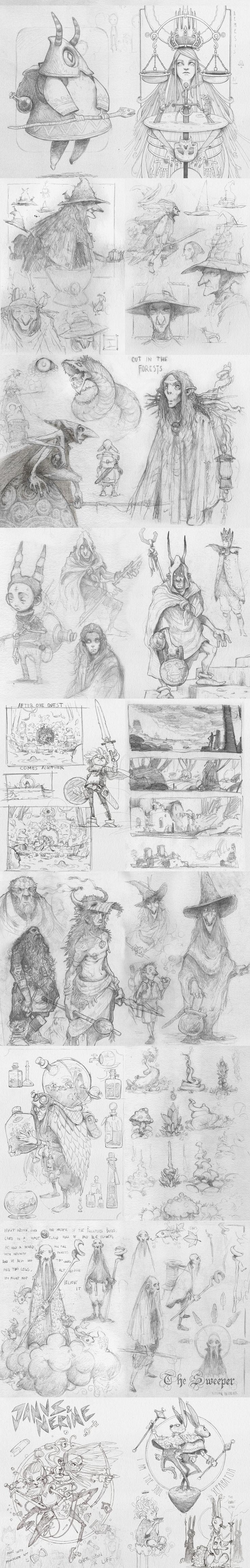 Sketchbook 2016 (II) by Dani Diez #danidiez