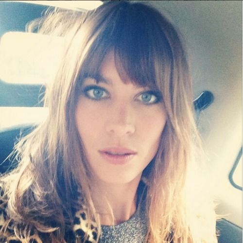 Just like pixie collars, loafers and winged liner, Alexa Chung OWNS the fringe - The Glow