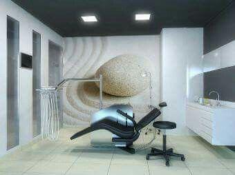 Futuristic dental clinic