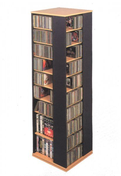 "Multi Media Rack Black (Black) (61 1/2""H x 18 1/4""W x 1/ 1/4""D)"